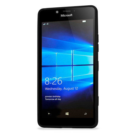 FlexiShield Microsoft Lumia 950 Gel Case - Solid Black