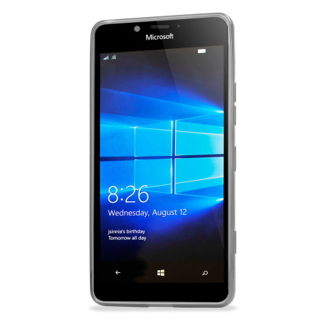 baseline flexishield microsoft lumia 950 gel case frost white