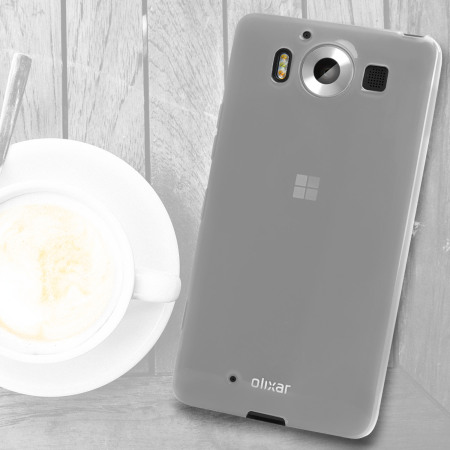 items can flexishield microsoft lumia 950 gel case frost white