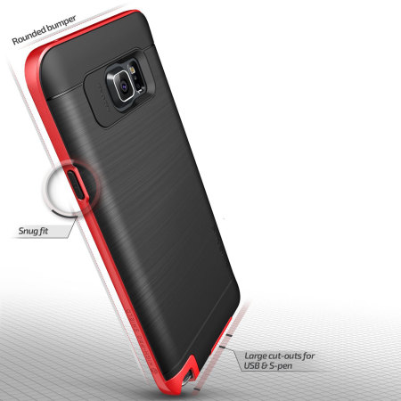 Verus High Pro Shield Series Samsung Galaxy Note 5 Case - Red
