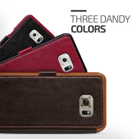 wholesale dealer 6e60f 25d01 Verus Dandy Leather-Style Samsung Galaxy S6 Edge Plus Case - Black