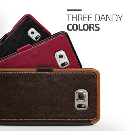 Verus Dandy Leather-Style Samsung Galaxy S6 Edge Plus Case - Brown