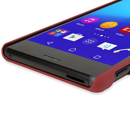 toughguard sony xperia m4 aqua hybrid rubberised case red