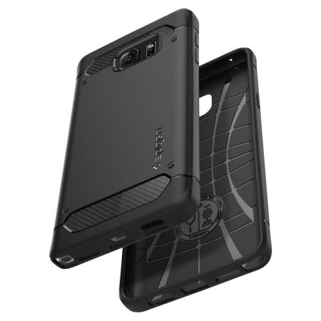 low priced bdea6 6819c Spigen Rugged Armor Samsung Galaxy Note 5 Tough Case - Black