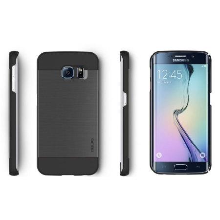 Obliq Slim Meta Samsung Galaxy S6 Edge Plus Case - Titanium Black