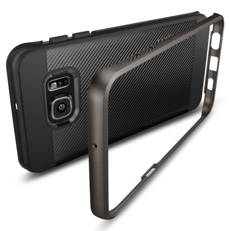 Spigen Neo Hybrid Carbon Samsung Galaxy S6 Edge Plus Case - Gunmetal