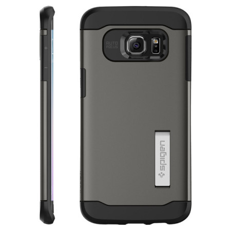 Spigen Slim Armor Samsung Galaxy S6 Edge Plus Case - Gunmetal