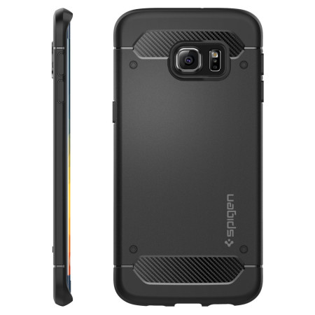 Spigen Rugged Armor Samsung Galaxy S6 Edge Plus Tough Case - Black