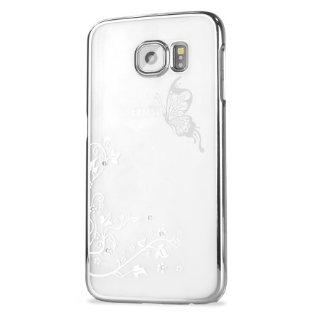 Olixar Butterfly Samsung Galaxy S6 Shell Case - Silver / Clear
