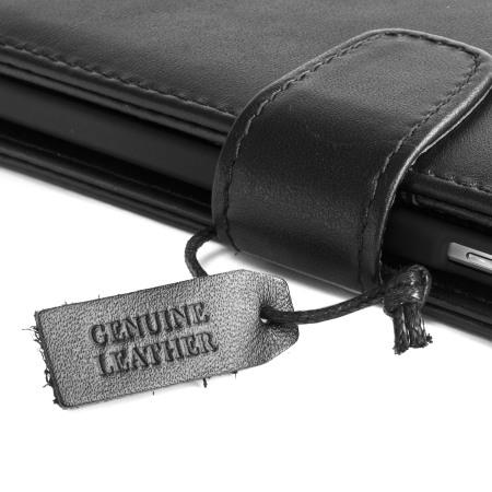 Olixar Genuine Leather Samsung Galaxy Note 5 Case - Black