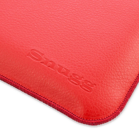 Snugg Leather-Style Wallet Microsoft Surface 3 Pouch - Red