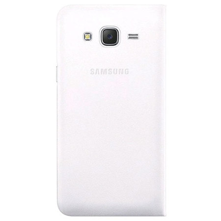 Official Samsung Galaxy J5 2015 Flip Wallet Cover - White