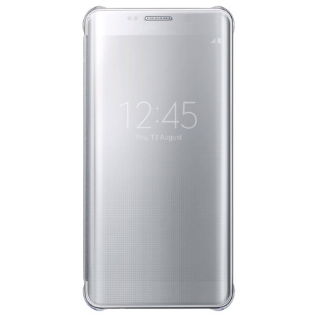 Official Samsung Galaxy S6 Edge+ Clear View Cover Skal - Silver