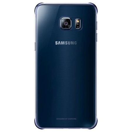 Official Samsung Galaxy S6 Edge Plus Clear Cover Case - Blue / Black