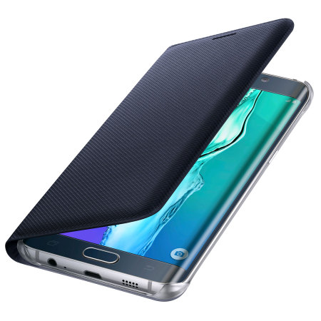 lowest price 811df 03037 Official Samsung Galaxy S6 Edge Plus Flip Wallet Cover - Blue / Black