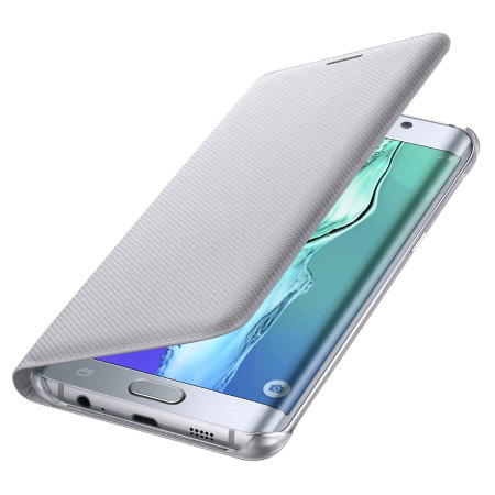 Official Samsung Galaxy S6 Edge Plus Flip Wallet Cover - Silver