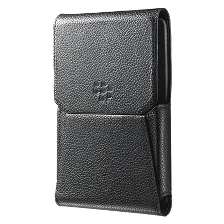 on sale 7ac9b 8f891 Official BlackBerry Passport Leather Swivel Holster Pouch - Black