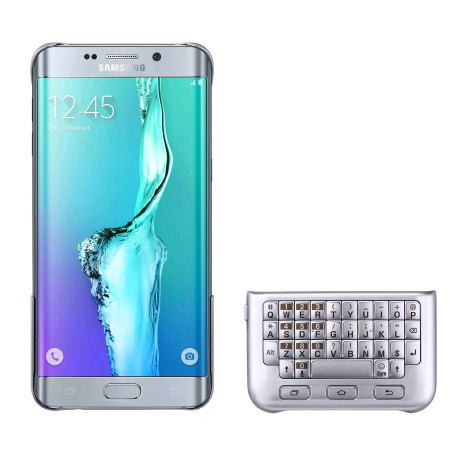 Official Samsung Galaxy S6 Edge Plus Keyboard Cover - Silver
