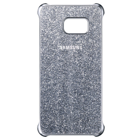 Official Samsung Galaxy S6 Edge Plus Glitter Cover Case - Silver