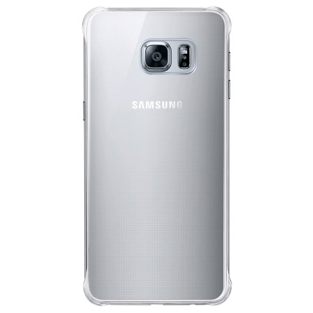 Official Samsung Galaxy S6 Edge Plus Glossy Cover Case - Silver