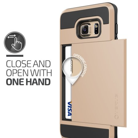 Verus Damda Slide Samsung Galaxy S6 Edge Plus Case - Shine Gold