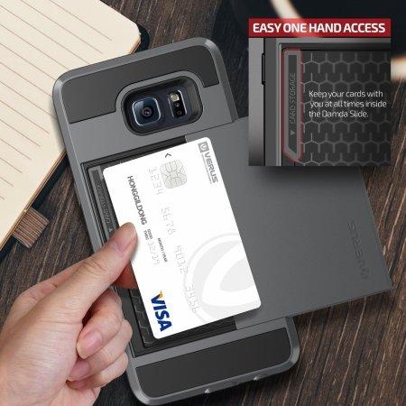 Verus Damda Slide Samsung Galaxy S6 Edge Plus Case - Steel Silver