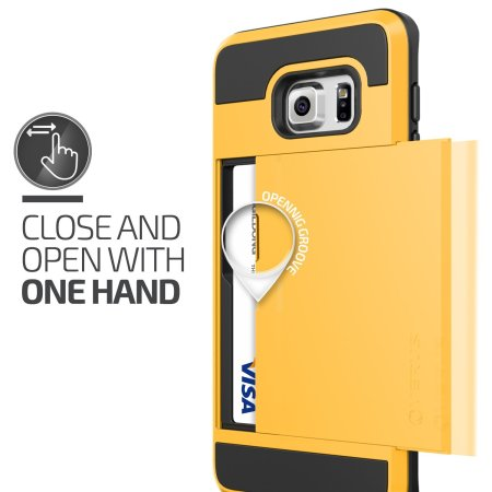 Verus Damda Slide Samsung Galaxy S6 Edge Plus Case - Special Yellow