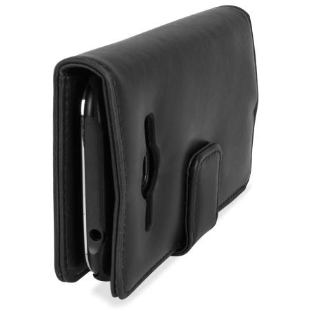 Olixar Samsung Galaxy J1 2015 Genuine Leather Wallet Case - Black