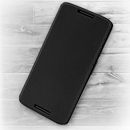 new product 419b0 93585 Official Motorola Moto X Play Flip Shell Cover - Black