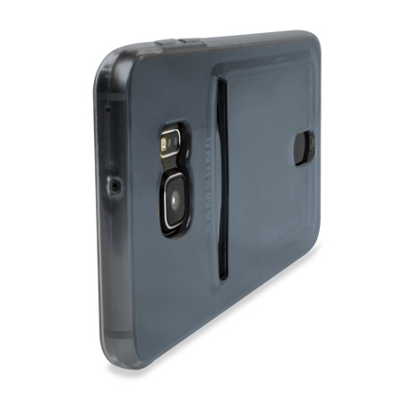 Olixar FlexiShield Slot Samsung Galaxy S6 Edge Plus Gel Case - Grey