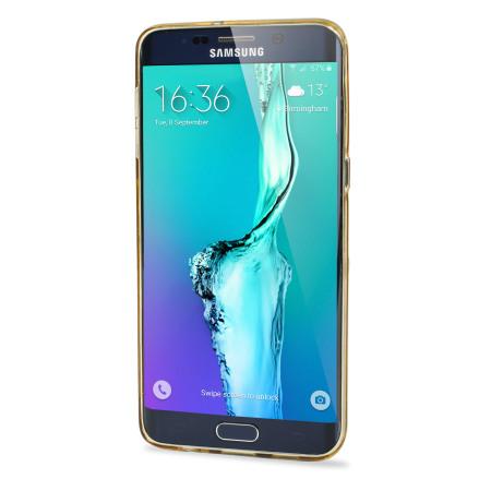 Olixar FlexiShield Slot Samsung Galaxy S6 Edge Plus Gel Case - Gold