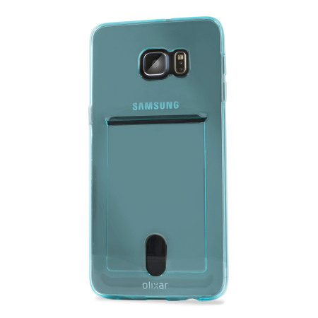 Olixar FlexiShield Slot Samsung Galaxy S6 Edge Plus Gel Case - Blue