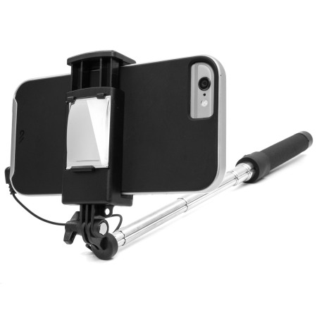 Olixar Pocketsize iPhone Selfie Stick with Mirror - Black