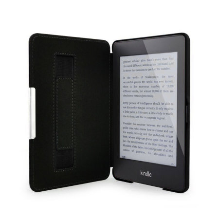 Olixar Genuine Leather Kindle Paperwhite 3 / 2 / 1 Folio Case - Black