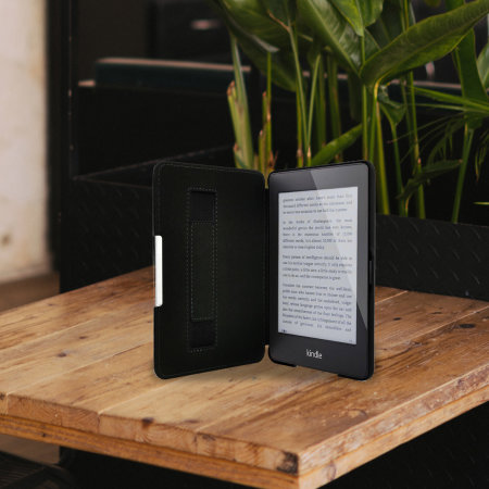 Olixar Genuine Leather Kindle Paperwhite 3 / 2 / 1 Folio Case - Black