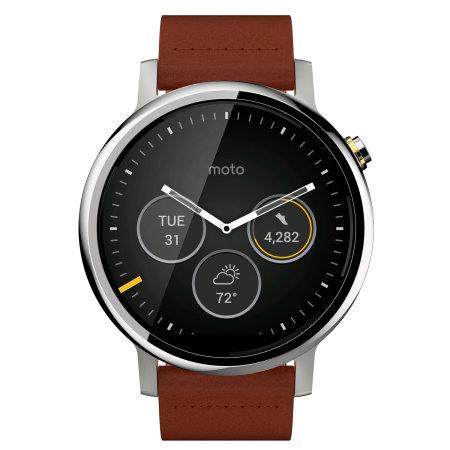 Motorola Moto 360 2nd Gen SmartWatch 46mm - Cognac Leather