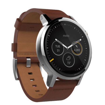moto 2nd gen watch. Motorola Moto 360 2nd Gen SmartWatch 46mm - Cognac Leather Watch O