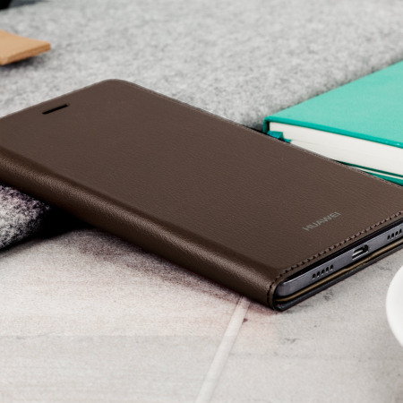 Official Huawei P8 Lite Flip Cover Case - Brown