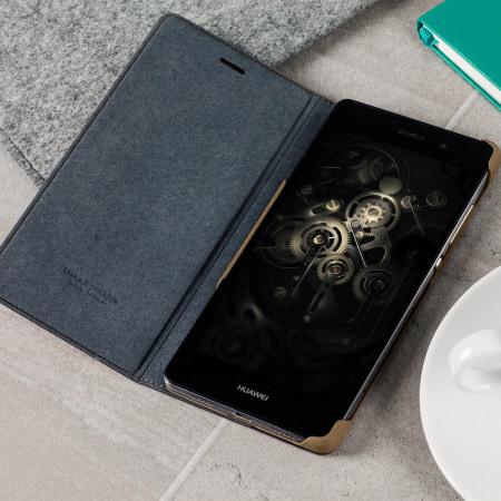 Official Huawei P8 Lite 2015 Flip Cover Case - Black