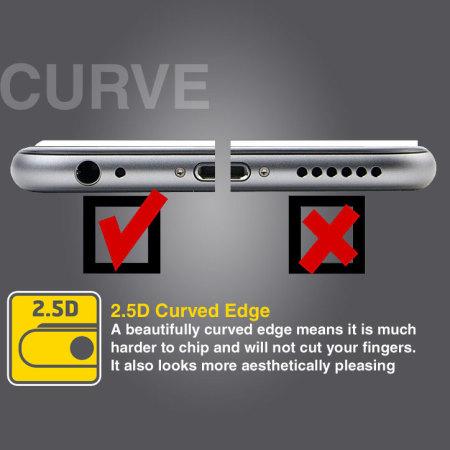 Protector de Pantalla iPhone 6 Plus Olixar Quicktap Cristal Templado