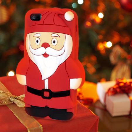 Olixar 3D Santa iPhone 5S / 5 Silicone Case - Red / Black