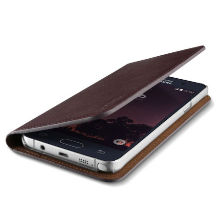 watch 448a3 92487 Verus Samsung Galaxy Note 5 Genuine Leather Wallet Case - Wine