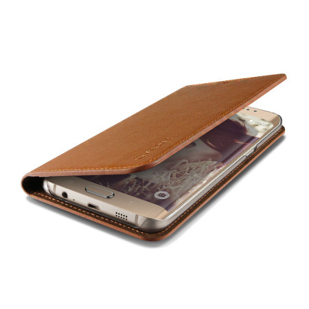new arrival 1dfab 942cc Verus Samsung Galaxy S6 Edge Plus Genuine Leather Wallet Case - Brown