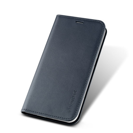 Verus Samsung Galaxy S6 Edge Plus Genuine Leather Wallet Case - Navy