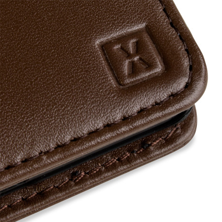 Olixar Sony Xperia Z5 Genuine Leather Wallet Case - Brown