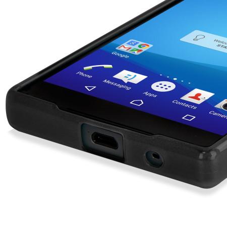 sony xperia z5 compact. flexishield sony xperia z5 compact case - black