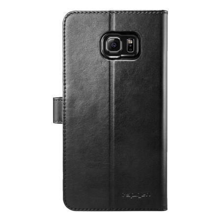 flash for spigen samsung galaxy s6 edge wallet s case black lewis
