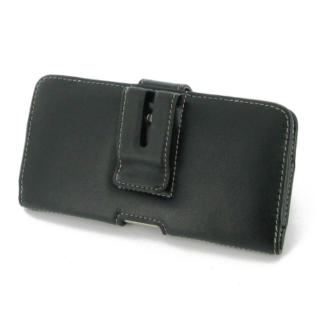 PDair Horizontal Leather Samsung Galaxy S6 Edge Plus Case - Black