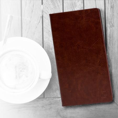 Olixar Leather-Style Sony Xperia Z5 Premium Wallet Stand Case - Brown