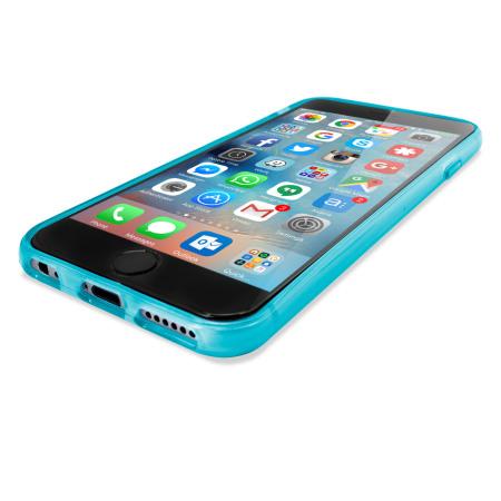flexishield iphone 6s plus gel case light blue daily base